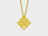 Diamond Molecule Necklace 3d printed Diamond molecule necklace gold