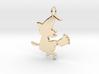 Cartoon Witch Cute Halloween Pendant Charm 3d printed
