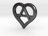 The Wild Heart (steel pendant) 3d printed