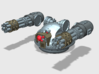 V1A Linebacker: Twin Gat Cannon Turret  3d printed For flexibility; 8mm X 2mm magnets should be used to attach.