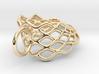 Mobius Mesh (smaller) Pendant in Precious Metals 3d printed