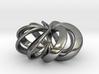 Rosette (smaller) Pendant in Precious Metals 3d printed