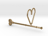 Heart Wand Keychain/necklace Attachment 3d printed
