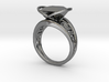 Achtknoten Curve Twin Ring (001) 3d printed Achtknoten Curve Twin Ring (001)