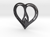 The Flame Heart II (steel pendant) 3d printed