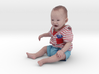 Scanned 7 month old Baby boy_6CM High 3d printed