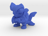 Scuba Shark Toy Collectible 3d printed Render of Scuba Shark in Blue Material