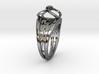 Tangentoidal Crown Curve Twin Ring 3d printed Tangentoidal Crown Curve Twin Ring