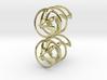 Auger - Earrings in precious metal 3d printed