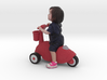 Scanned Little Girl rides a toy car - 8CM High 3d printed