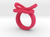 AMOUR petite in pink polished plastic 3d printed