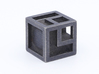 Cube with edges 3d printed