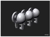 Simensays Hilux 4x4 Spot Lights 3d printed