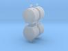 Altglascontainer Trommel 4erSet 1:120 TT 3d printed