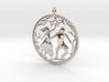 Beautiful vintage style pendant 3d printed