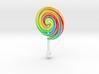 Colorful Swirl Lollipop pendant 3d printed