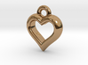The Hearty Little Heart (precious metal pendant) 3d printed