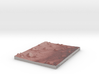Mars Map: Small Buttes and Dunes in Light Red 3d printed