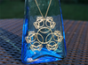Fractal Blossom Pendant 3d printed Raw Brass
