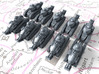 1/600 French Renault FT Light Tank x10 3d printed 1/600 French Renault FT Light Tank x10