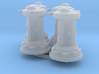 1/270 Rebel DF9 Turrets (4) 3d printed