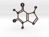 Caffeine Molecule Pendant 3d printed