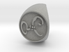 The Yellow Sign Signet Ring Size 11 3d printed