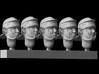 1/25 scale Roman Legionary heads (5)  3d printed