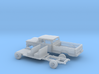 1/87 1960-61 Chevrolet C20 Fleetside Crewcab Kit 3d printed