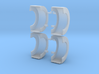 spread axle show fenders 3d printed