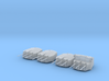 "1/350 RN Triple 6"" MKXXIII Turrets (4) HMS Nigeria 3d printed 3d render displaying product detail"