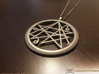 Sigil of the Gates Pendant 4.5cm 3d printed Polished Nickel Steel example (Chain not included)
