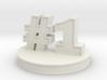 number 1 ( #1 ) miniature 3d printed