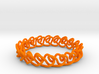 Chain stitch knot bracelet (Circle) 3d printed