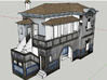 Portuguese Train Station 1:87 Scale 3d printed Render on SketchUp