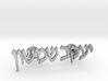 "Hebrew Name Cufflinks - ""Yaakov Shimshon"" 3d printed"