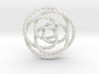 Rose knot 3/5 (Twisted square) 3d printed