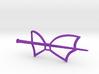 Bat Wing Hair Fastener 3d printed