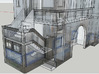 Portuguese Train Station 1:87 Scale - Now in Full  3d printed X-Ray Detail of the Stairs