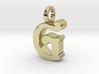 G - Pendant - 3 mm thk. 3d printed