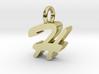 H - Pendant - 3 mm thk. 3d printed
