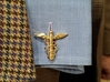 Doctor's Caduceus Cufflinks 3d printed Cufflink fits perfectly in any standard French Cuff shirt