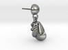 Nautilus Earring 3d printed