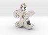 K - Pendant - 3 mm thk. 3d printed