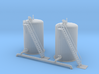 Water Fill Station Tanks Z scale 3d printed two water fill tanks Z scale
