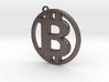 Bitcoin pendant 4,5cm diameter 3d printed
