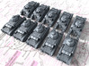 1/700 French Char D2 Medium Tank x10 3d printed 1/700 French Char D2 Medium Tank x10