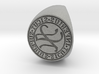 Custom Signet Ring 61 3d printed