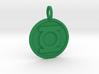 Green Lantern Pendant 3d printed