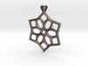 6 pointed star pendant 3d printed